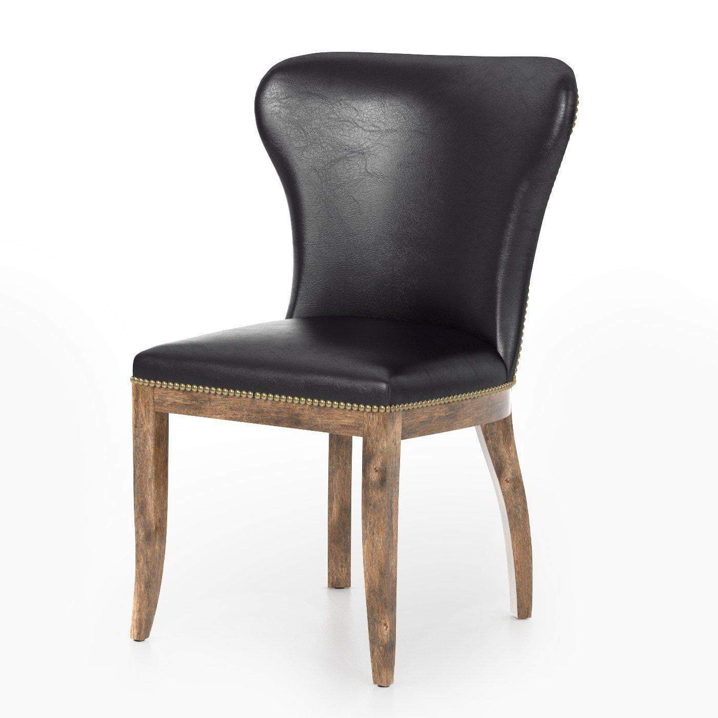 Richmond Leather Dining Chair (Rider Black) - Carnegie Collection - Parker Gwen