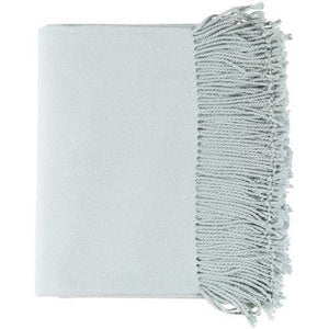 "Chantel Woven Silk & Cashmere Throw Blanket 50"" x 60"" (Ice Blue) - Parker Gwen"