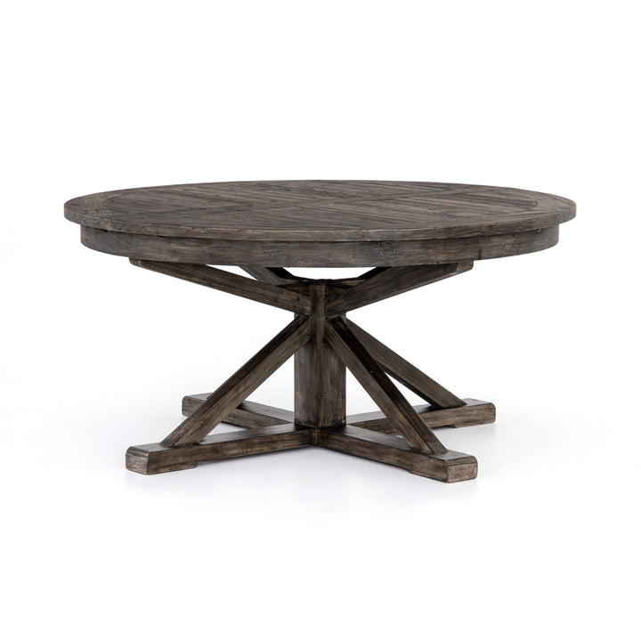 Cintra Collection Extension Dining Table: Rustic Black Olive-Dining Table-Parker Gwen