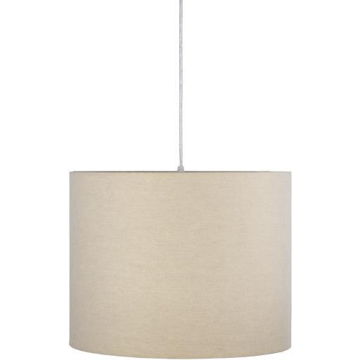 Brenley Gray White Powder Coated Fabric Chandelier