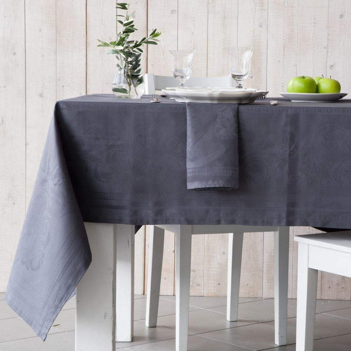 "Costa Nova Ana Graphite Table Cloth: 98"" or 118""-Tablecloth-Parker Gwen"