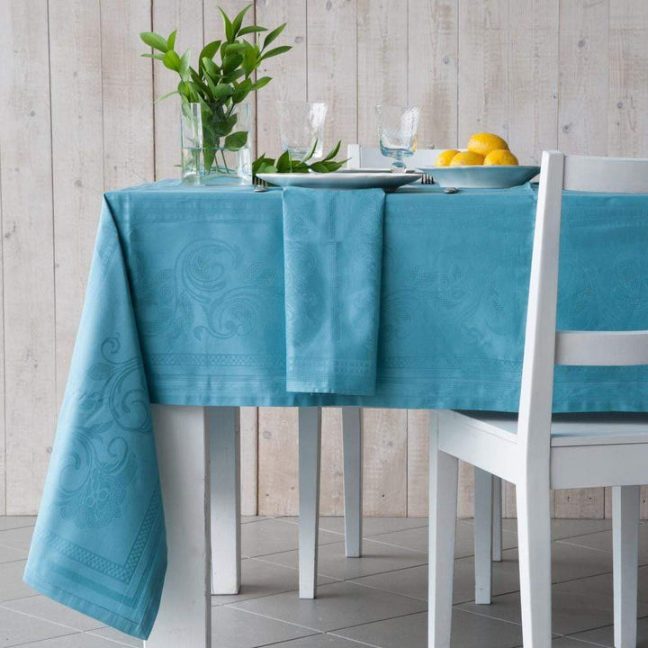 "Costa Nova Ana Turquoise Table Cloth: 98"" or 118""-Tablecloth-Parker Gwen"