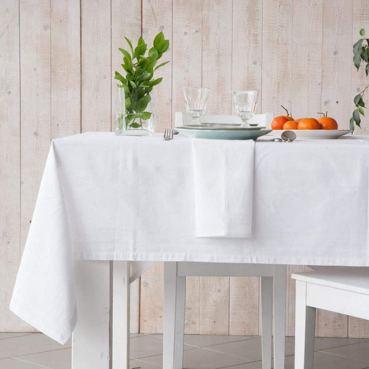 "Costa Nova Ana White Table Cloth: 98"" or 118""-Tablecloth-Parker Gwen"