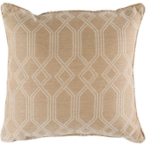 "Crissy 16"" or 20"" Outdoor Throw Pillows: Khaki/White - Parker Gwen"