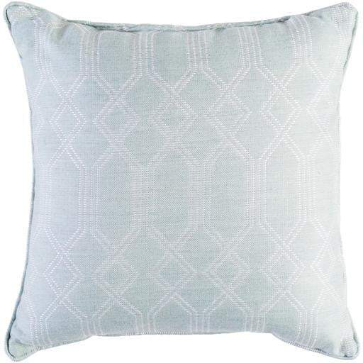 "Crissy 16"" or 20"" Outdoor Throw Pillows: Sea Foam/White - Parker Gwen"