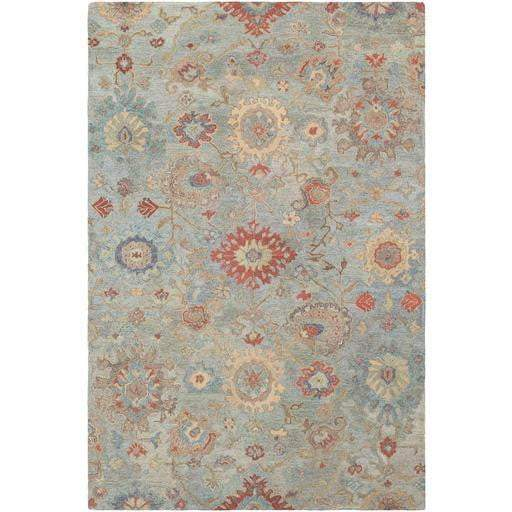 Classic Nouveau Hand Hooked Wool Rug Collection: 3 Sizes (Gray) - Parker Gwen