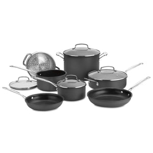 Cuisinart 11-Pc Chefs Classic Non-Stick Hard Anodized Cookware Set-Pan-Parker Gwen