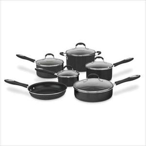 Cuisinart 11-Pc Cuisinart Advantage Cookware Set: Available in Black or Red-Pan-Parker Gwen