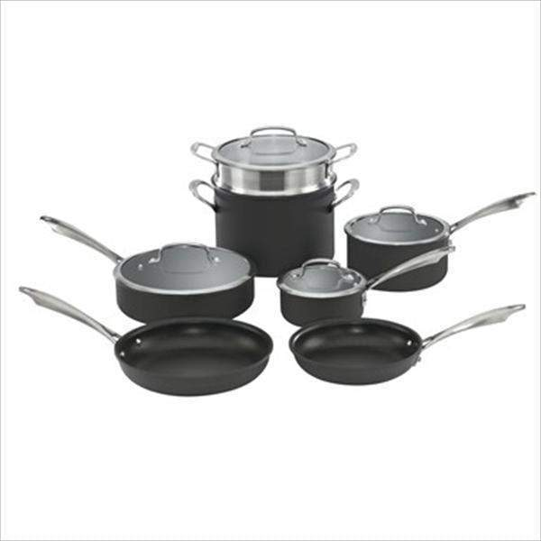 Cuisinart 11-Pc Dishwasher-Safe Hard Anodized Cookware Set-Pan-Parker Gwen