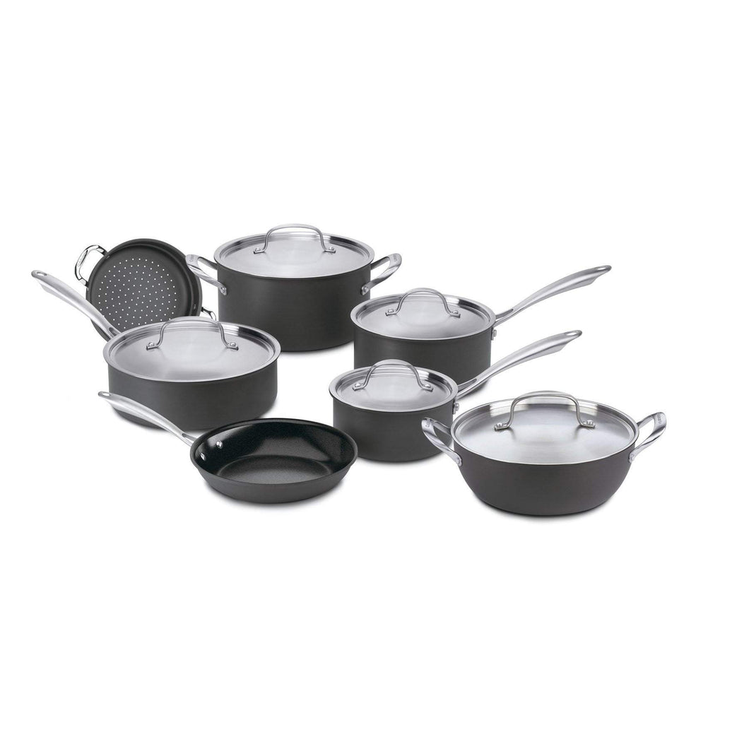 Cuisinart 12-Pc GreenGourmet Hard Anodized Cookware Set-Pan-Parker Gwen
