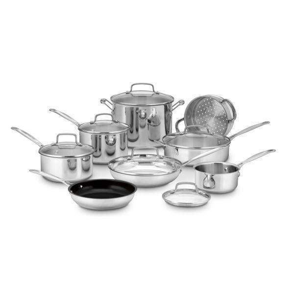 Cuisinart 14-Pc Chef's Classic Stainless Cookware Set-Pan-Parker Gwen