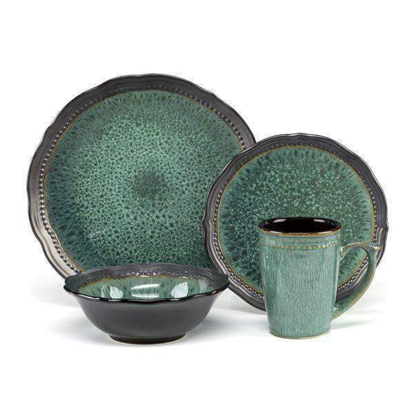 Cuisinart 16 Piece Ceramic Dinnerware Set-Jenna Green Collection-Set-Parker Gwen