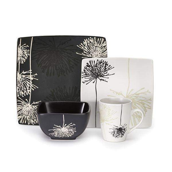 Cuisinart 16 Piece Ceramic Dinnerware Set: Marianne Collection - Parker Gwen