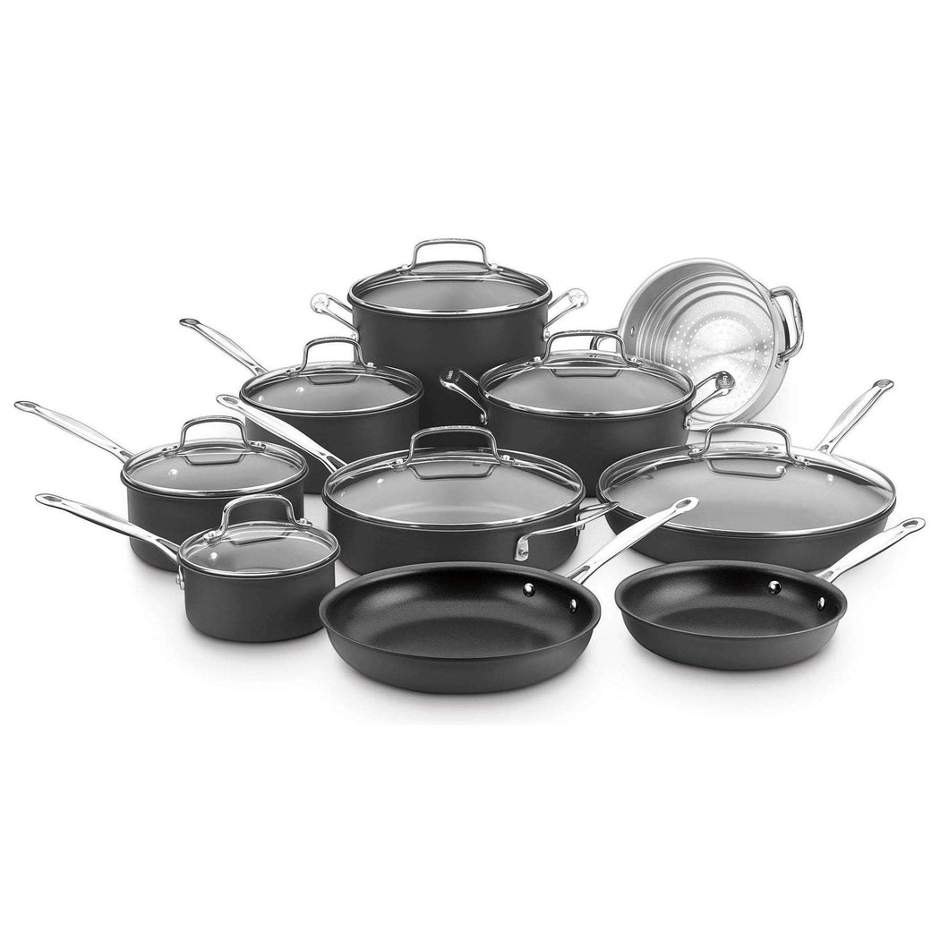 Cuisinart 17-Pc Chef's Classic Non-Stick Hard Anodized Cookware Set-Pan-Parker Gwen
