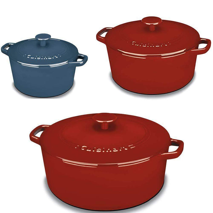 Cuisinart Enameled Cast Iron Pot (Multiple Colors & Sizes)-Bakeware-Parker Gwen