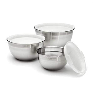 Cuisinart Mixing Bowls with Lids - Set of 3 - Parker Gwen