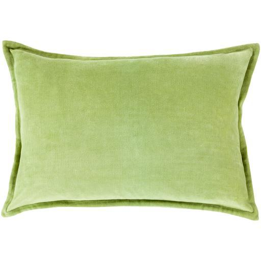 "THE VELVET THROW PILLOW: 13"" x 19"" (Grass Green) 