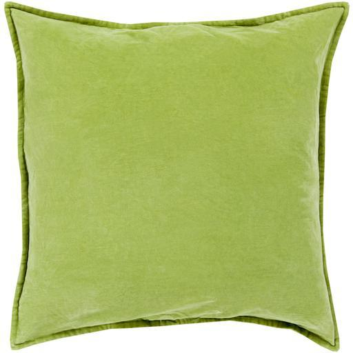 "THE VELVET THROW PILLOW: 18"", 20"" or 22"" (Grass Green) 
