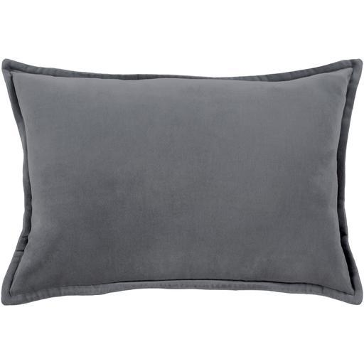 "THE VELVET THROW PILLOW: 13"" x 19"" (Charcoal) 