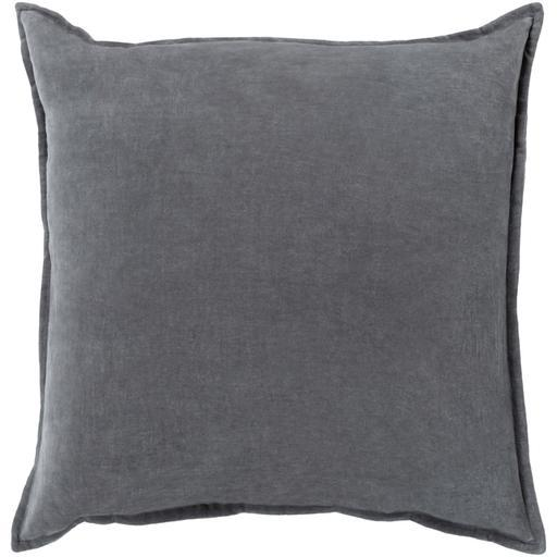 "THE VELVET THROW PILLOW: 18"", 20"" or 22"" (Charcoal) 