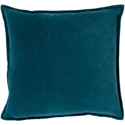 "THE VELVET THROW PILLOW: 18"", 20"" or 22"" (Teal) 