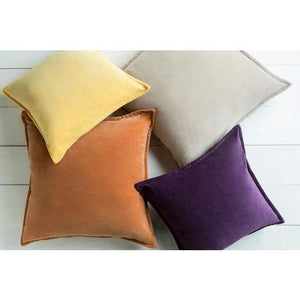 "THE VELVET THROW PILLOW: 18"", 20"" or 22"" (Yellow) 