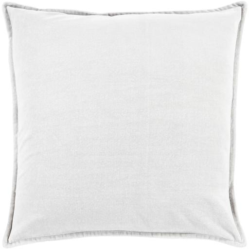 "THE VELVET THROW PILLOW: 18"", 20"" or 22"" (Light Grey) 