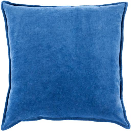 "THE VELVET THROW PILLOW: 18"", 20"" or 22"" (Blue) 