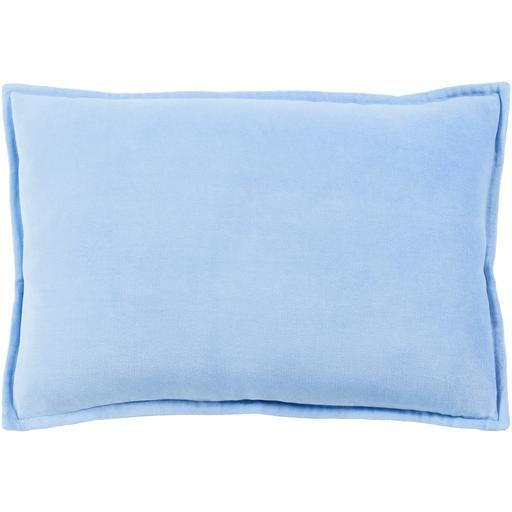 "THE VELVET THROW PILLOW: 13"" x 19"" (Light Blue) 