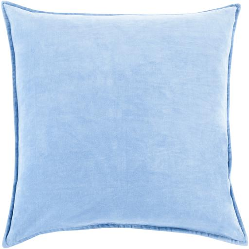 "THE VELVET THROW PILLOW: 18"", 20"" or 22"" (Light Blue) 