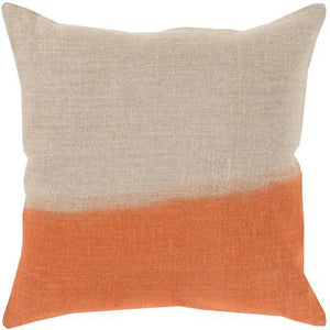 "SURYA DIP DYED THROW PILLOW: 18"", 20"" or 22"" (Orange) 