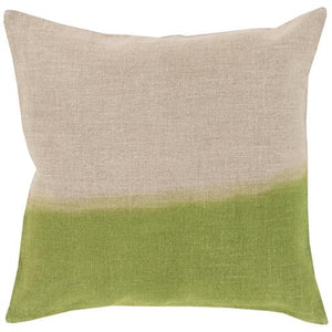 "SURYA DIP DYED THROW PILLOW: 18"", 20"" or 22"" (Grass Green) 