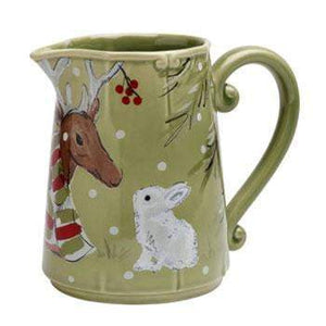 Deer Friends Pitcher: Holiday Decor Collection - Parker Gwen