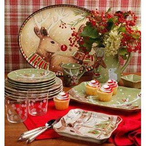 Deer Friends Rectangular Platter: Holiday Decor Collection - Parker Gwen