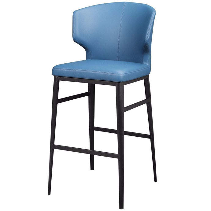 Delaney Contemporary Bar & Counter Stools (Steel Blue) - Parker Gwen