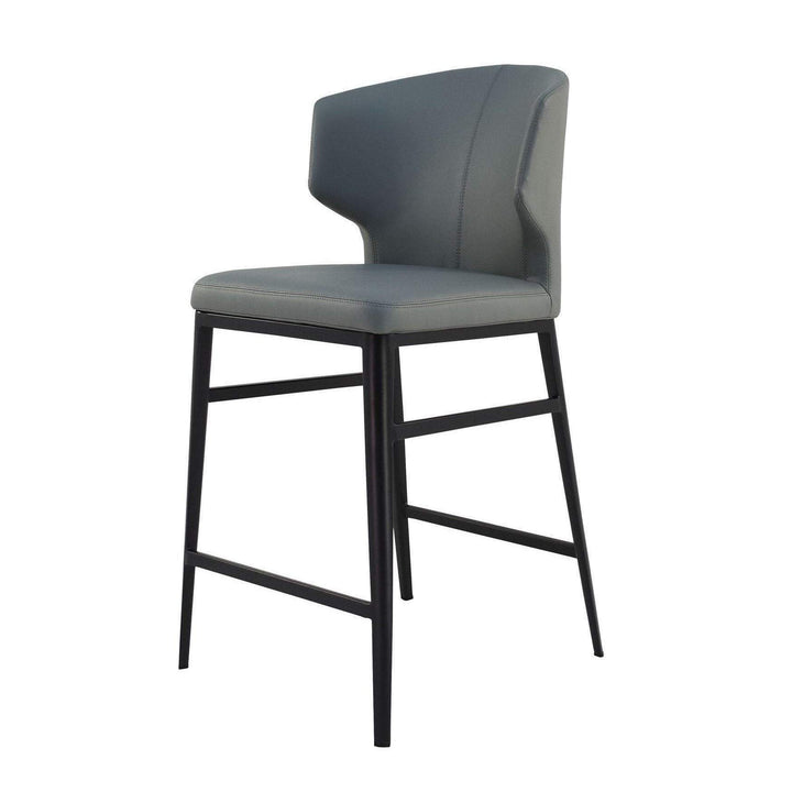 Delaney Contemporary Bar & Counter Stools (Grey) - Parker Gwen