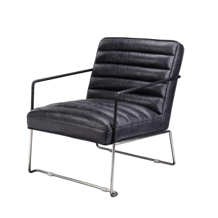 Desmond Leather Club Chair (Black) - Parker Gwen