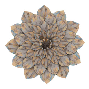 Distressed Dahlia Wall Decor-Wall Accent-Parker Gwen