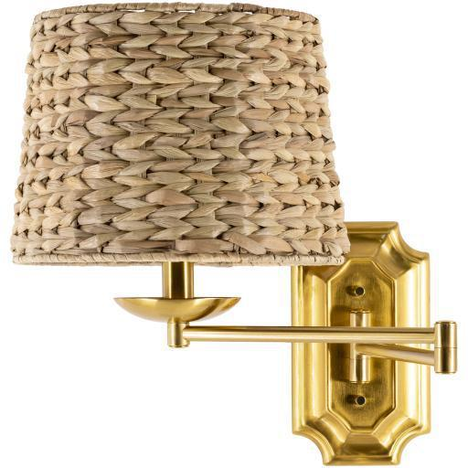 Nani Rattan Shade Wall Sconce | Sconce | parker-gwen