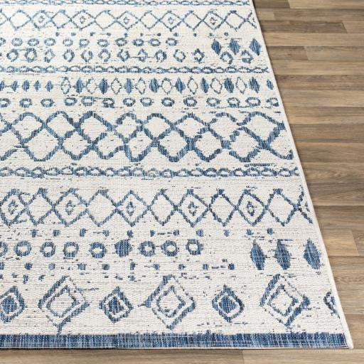Eagean Indoor/Outdoor Boho Rug Collection - 4 Sizes (Navy) - Parker Gwen