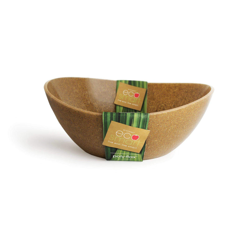 EcoSmart PolyFlax Serving Bowl Large (Brown) - Parker Gwen