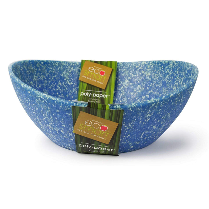 ECOSMART POLYPAPER SERVING BOWL LARGE: Blue-Serving Bowl-Parker Gwen