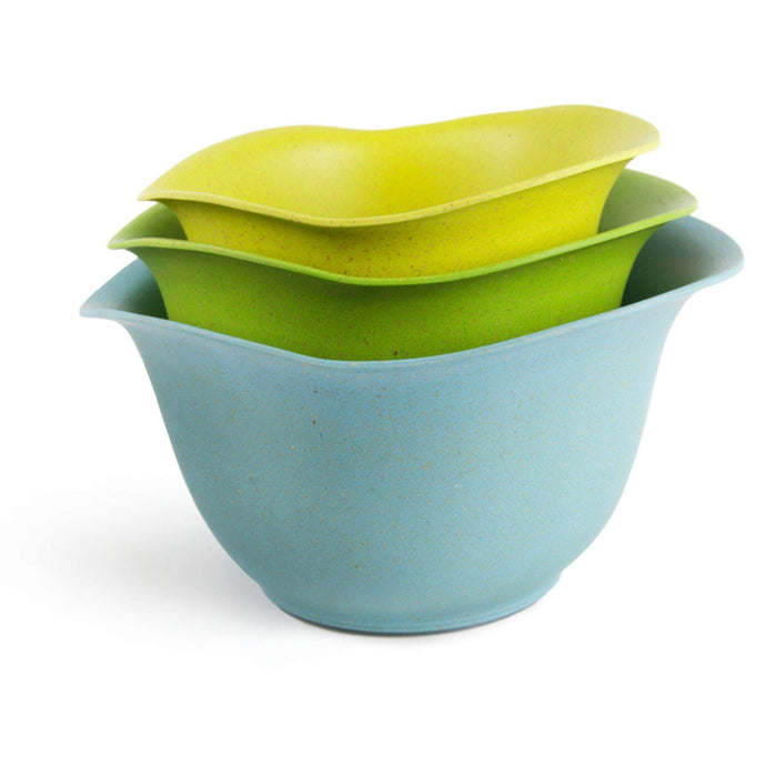 EcoSmart PureLast Mixing Bowl 2, 3, 4 Quart Set (Yellow/Green/Blue) - Parker Gwen