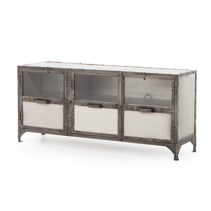 "Element 60"" Media Console (Antique Nickel) - Parker Gwen"