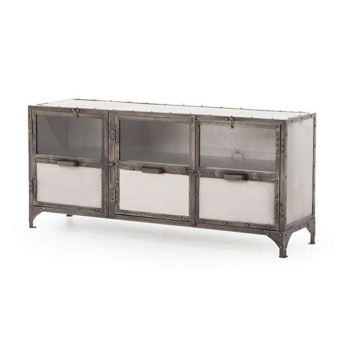 Element Collection Media Console: Antique Nickel-Media Console-Parker Gwen
