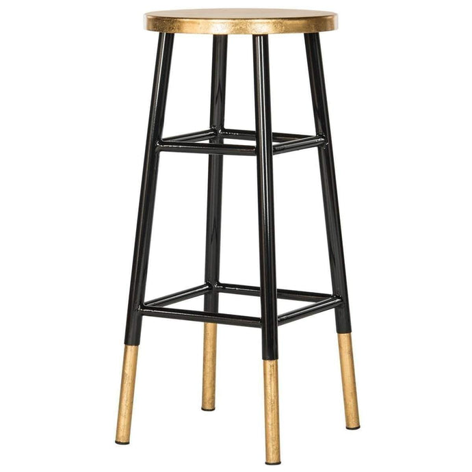 Emery Dipped Gold Leaf Barstool: Black-Stool-Parker Gwen