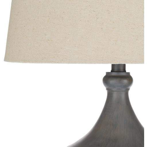 Eleanor Resin Table Lamp: Grey - Parker Gwen