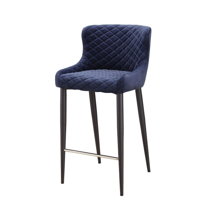 Etta Velvet Bar & Counter Stools (Dark Blue) - Parker Gwen