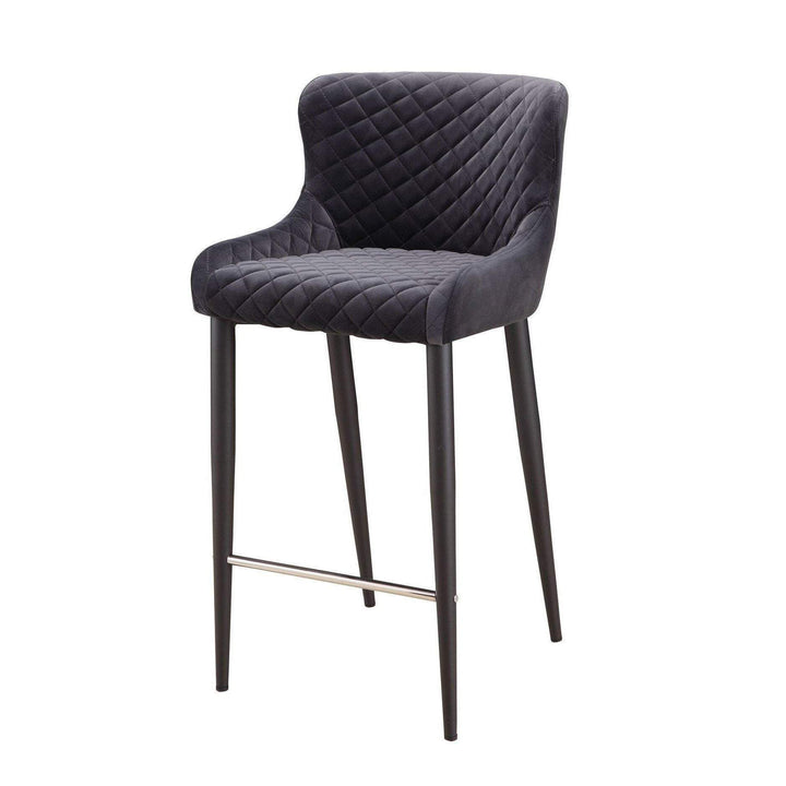 ETTA COUNTER STOOL DARK GREY-Stool-Parker Gwen