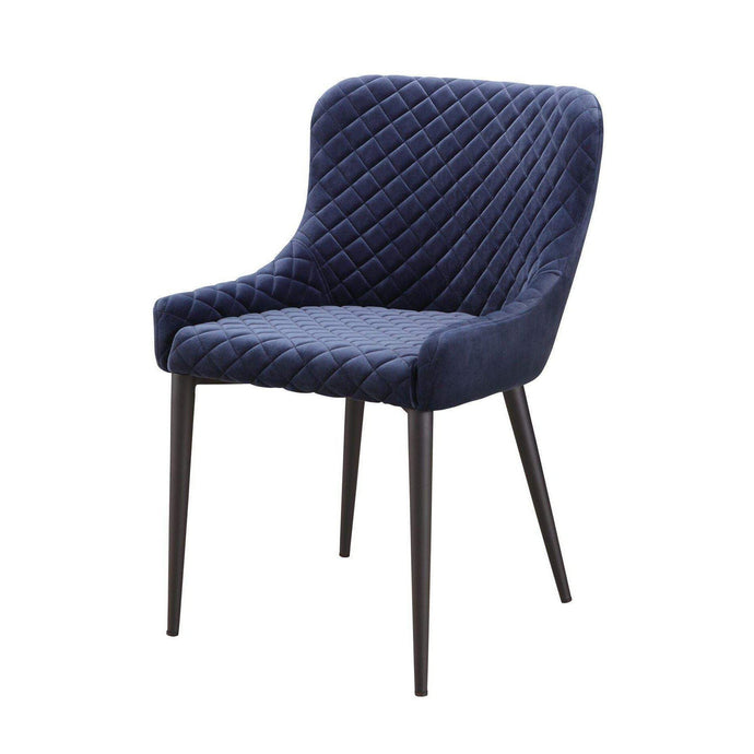 Etta Diamond Tufted Velvet Dining Chair (Navy) - Parker Gwen